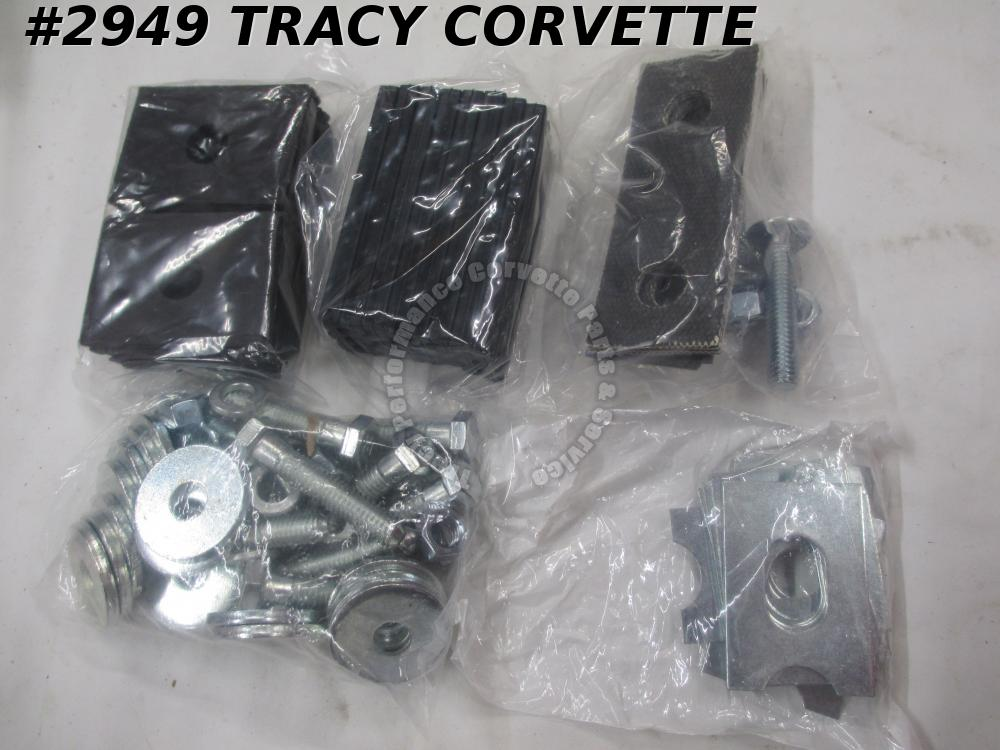 1953-1957 Corvette New Body Mount Kit with Radiator Mount Kit 53 54 55 56 57