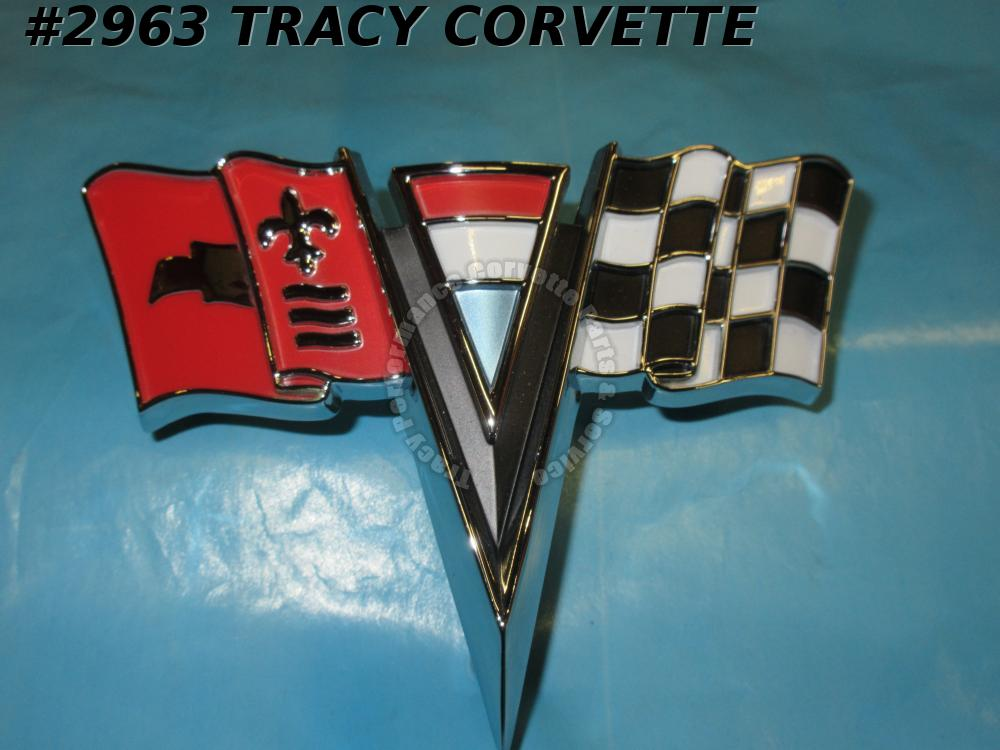 1963 64 Corvette New Reproduction Of 3797400 Nose Emblem