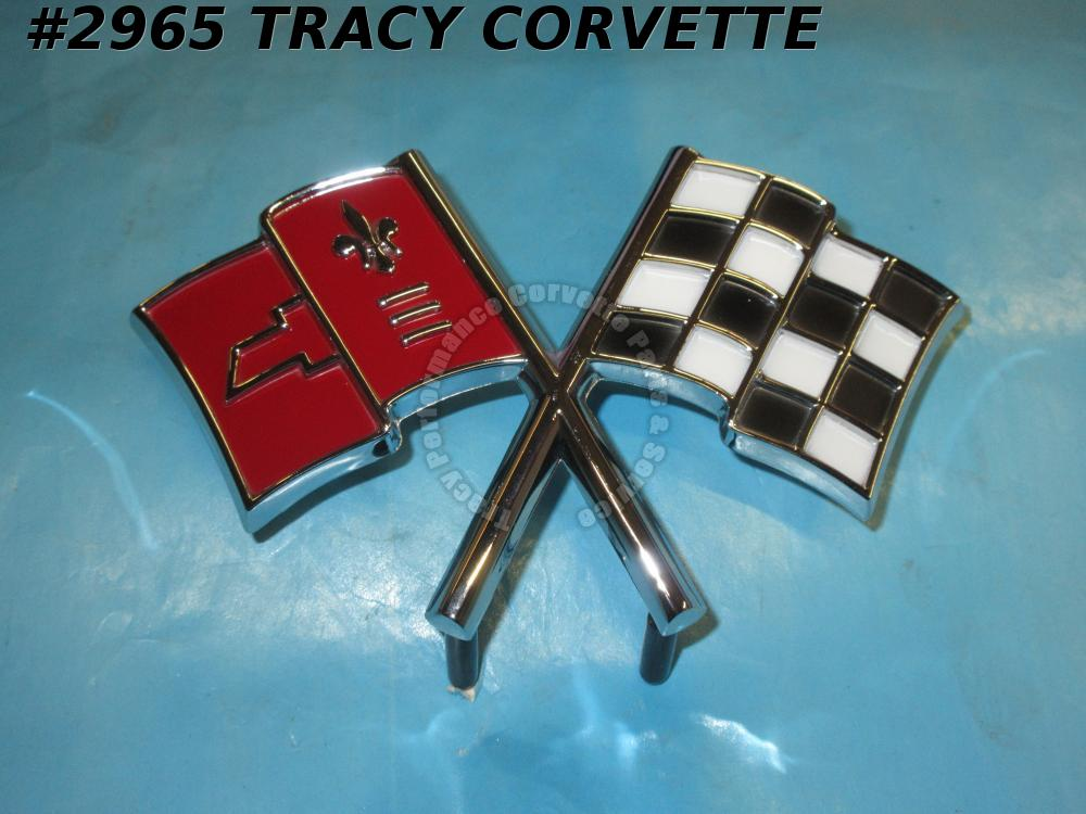 1966 Corvette New Reproduction of 3872929 Nose Emblem - Correct