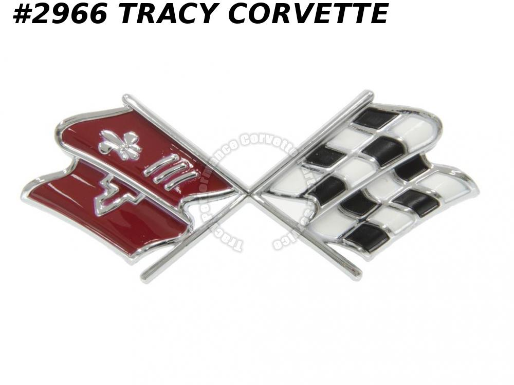 1967 Only Corvette New High Quality Reproduction 3894544 Front Nose Emblem 67