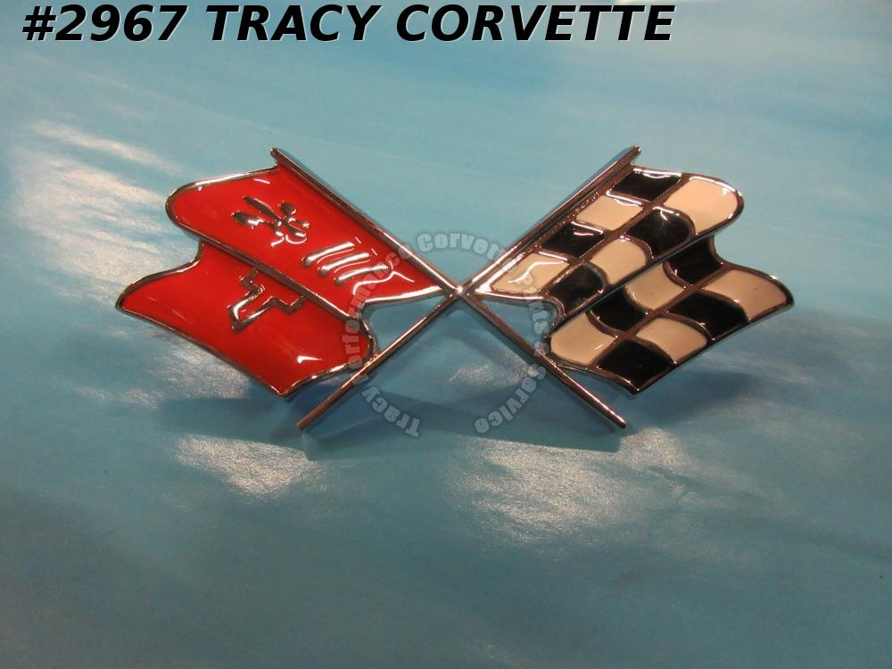 1968-1972 Corvette Cross Flag Nose Emblem 3912706