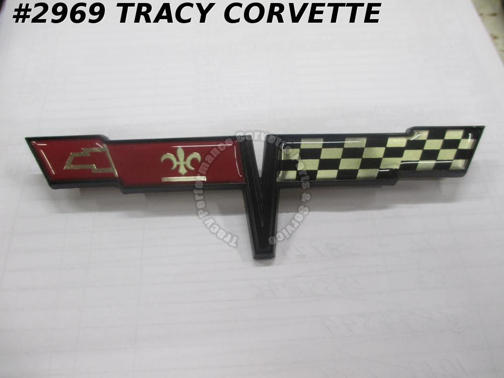 1981 Corvette New Reproduction of 14030130 Fuel Gas Door Flag Emblem