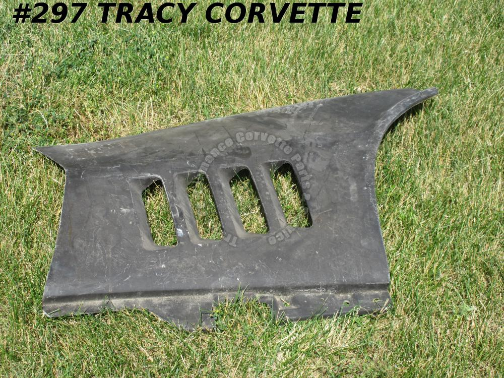 1968-1969 Corvette 3963182 Right Fender Louver Panel Rear Section *Black Glass*