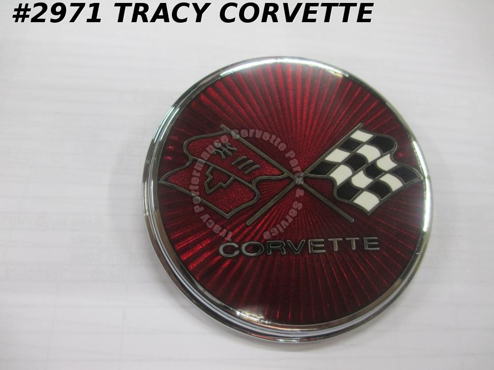 1975-1976 Corvette New Reproduction of 358737 Fuel Gas Door Flag Emblem