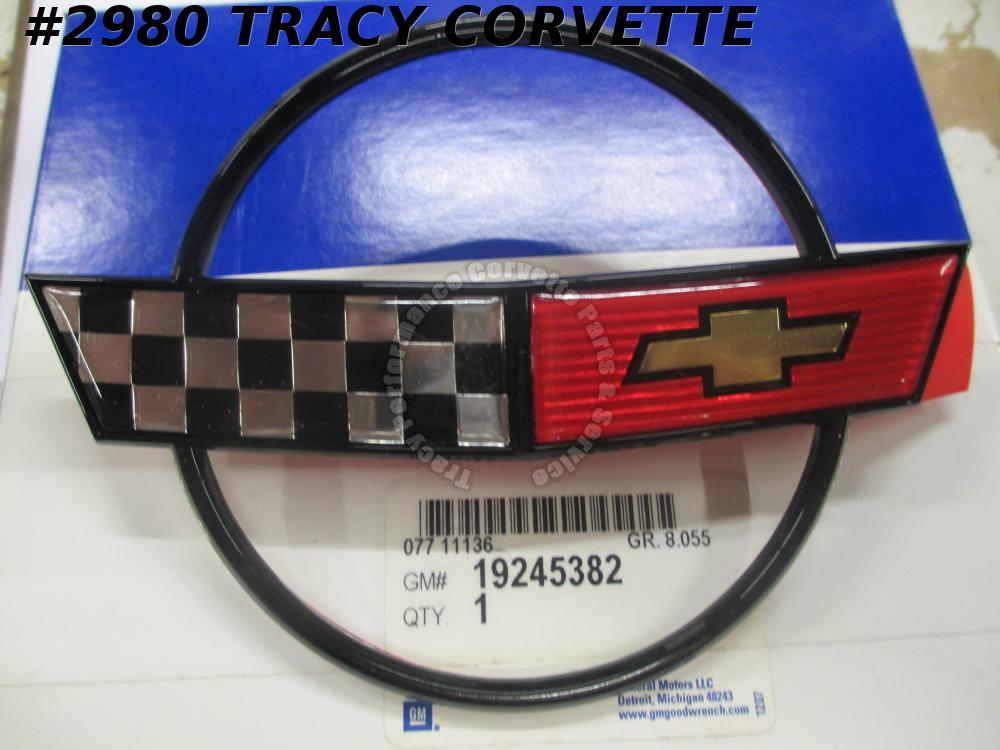 1984-1990 Corvette New 19245382 Front Nose Emblem excludes 35TH Anniversary