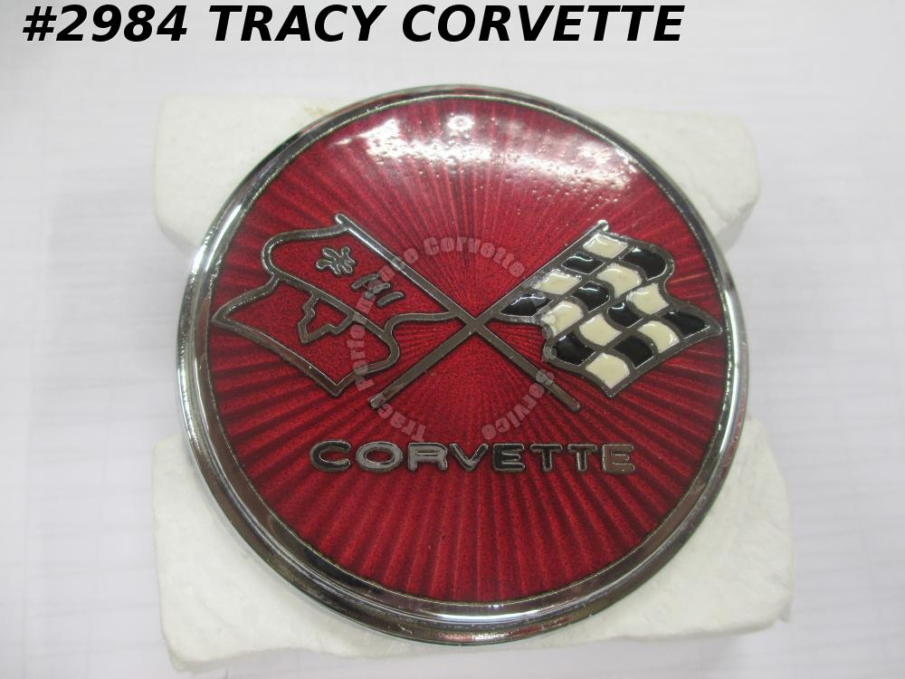 1975-1976 Corvette New USA Reproduction 358738X Front Sunburst Nose Emblem 75 76