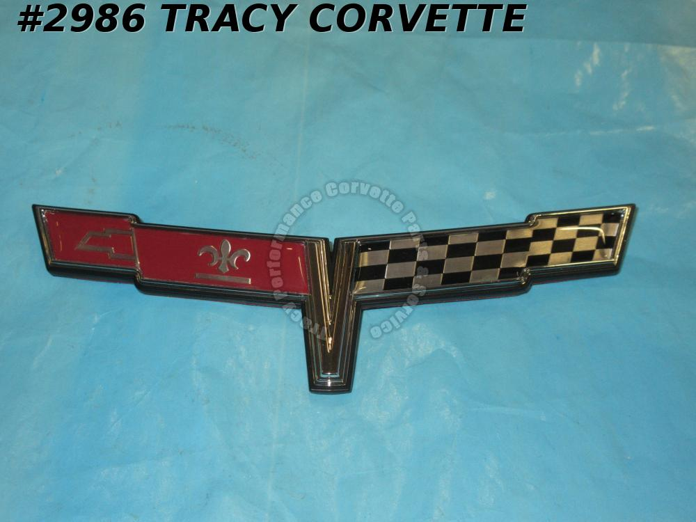 1980 Corvette New Reproduction of 14016098 Front Nose Flag Emblem 80 Vette