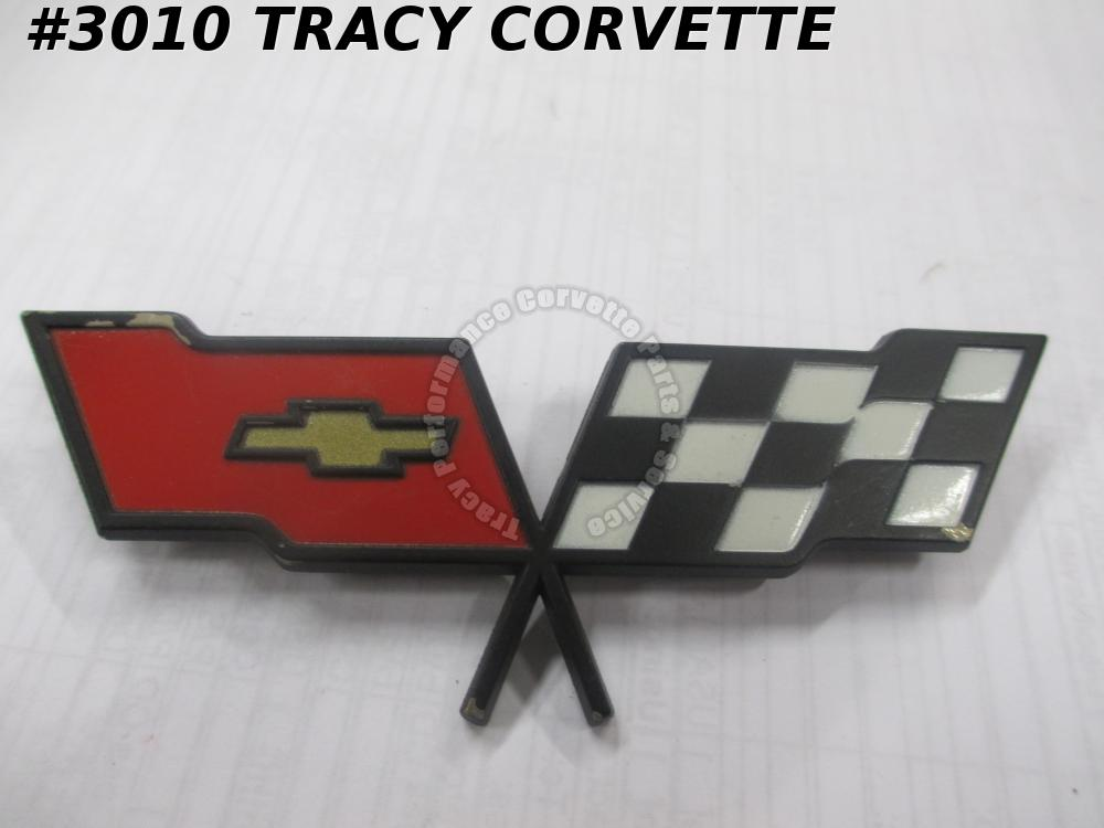 1982 Corvette NOS 14042293 Fuel Gas Door Emblem Only/Not Coll Ed/Needs Touch UP