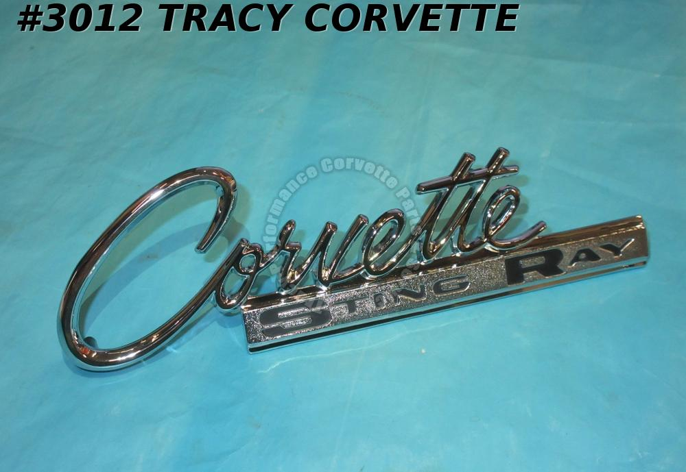 1963-1965 Corvette New Repro 3797414 Sting Ray Stingray Rr Deck Emblem 63 64 65