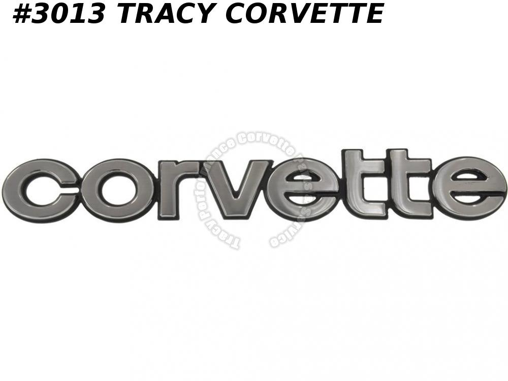 1980-1982 Corvette New Repro of 14016100 Rear Bumper Corvette Plate Emblem 1981