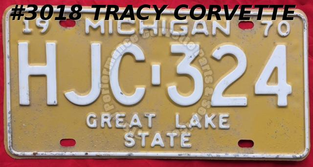 "1970 Used Original Michigan License Plate HJC 324 Great Lake State 12"" x 6"""