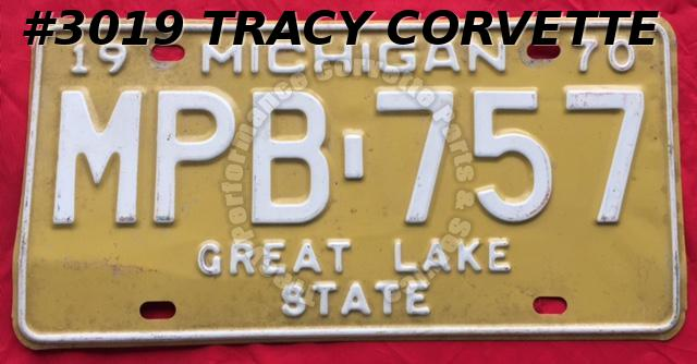 "1970 Used Original Michigan License Plate MPB 757 Great Lake State 12"" x 6"""