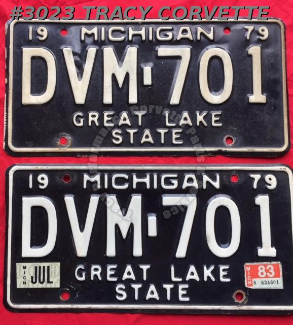 "1979 79 Michigan Used Original Vintage Metal License Plates Pr DVM-701 12"" x 6"""