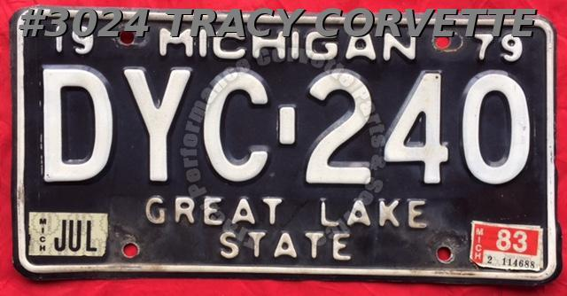1979 Used Original Michigan License Plate DYC 240 Great Lake State
