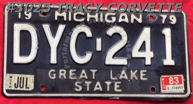 1979 Used Original Michigan License Plate DYC 241 Great Lake State