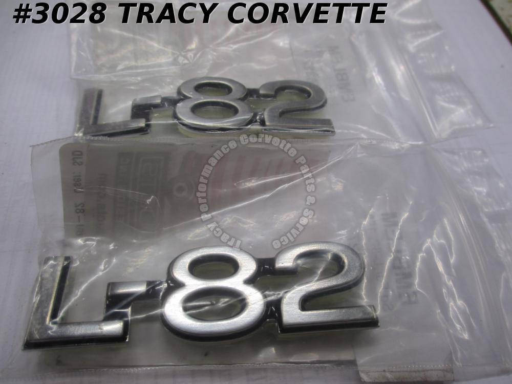 1980 Corvette New Repro 14016115 L-82 Frt Fender Emblems/Pr 80 Vette Side Emblem