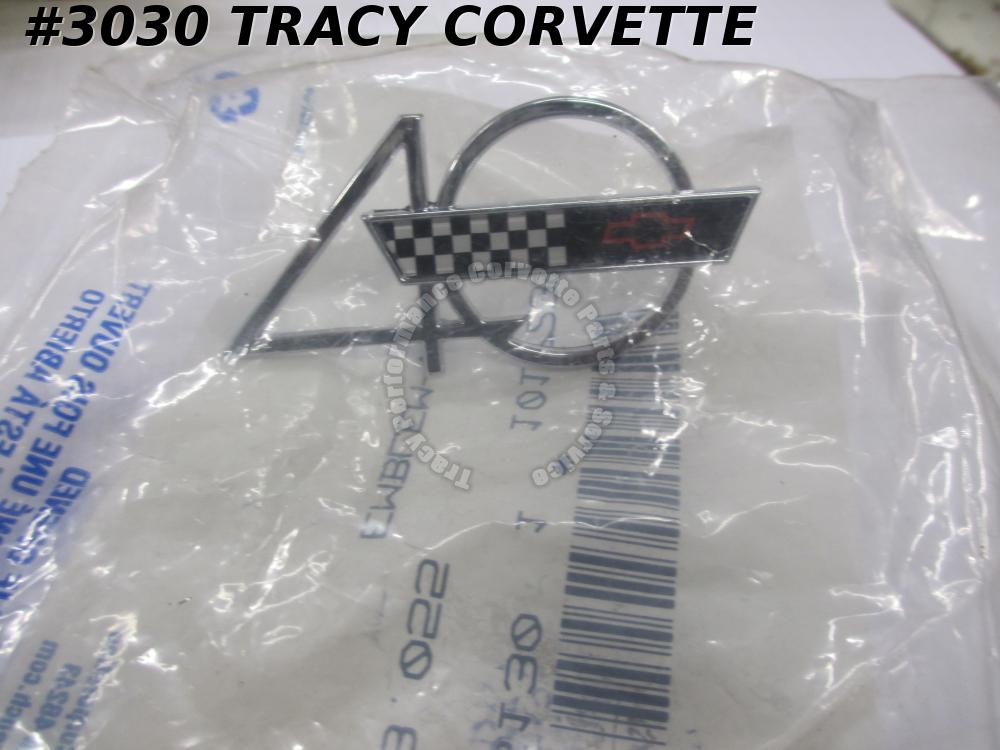 1993 Corvette New 10172390 General Motors Hood Emblem-40th Anniversary-Exc 93ZR1