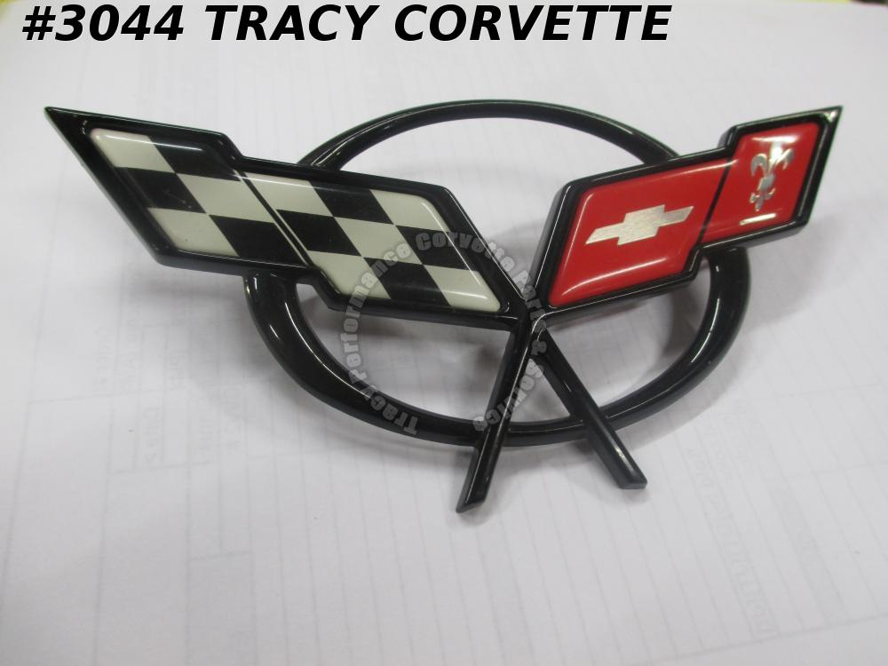 1997-04 Corvette New 19207384 Front Bumper Nose Emblem - DISCOUNTED