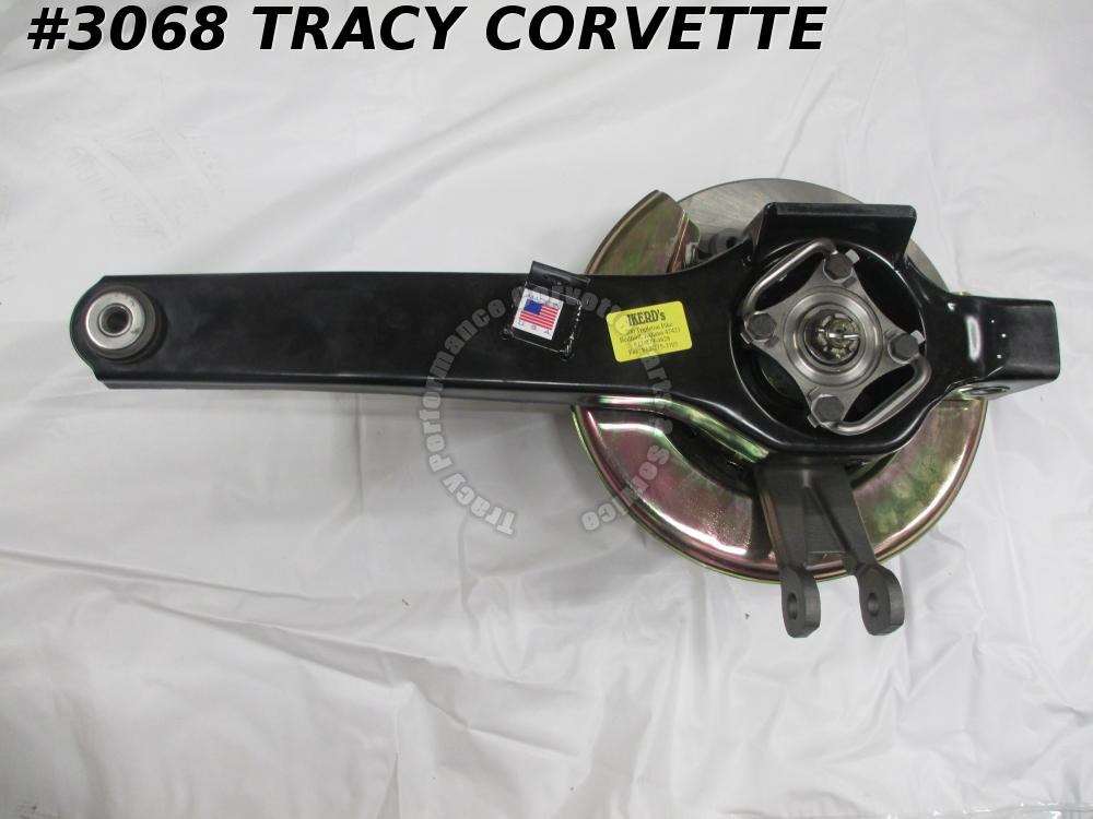 1965-1976 Corvette Trailing Arm Asy Silver Back Plate RH Rotor Spindle Bearing