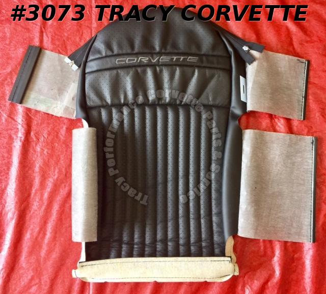1998 Corvette NOS 12455441 Driver Side Black Leather Sport Seat Back Cover Only