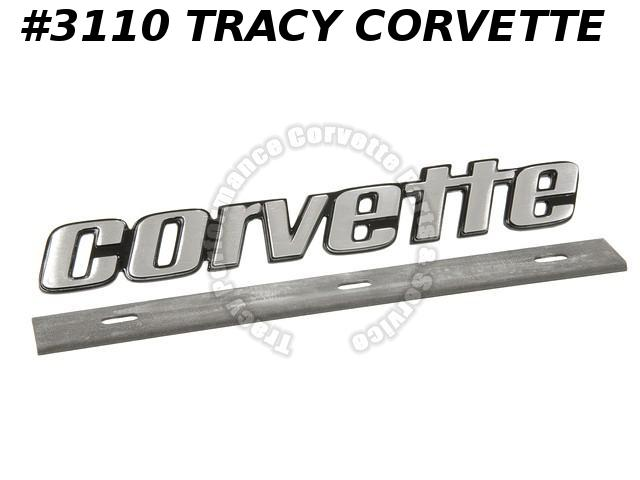 1976L-1979 Corvette New Repro of 462226 Rear Bumper Corvette Name Plate Emblem