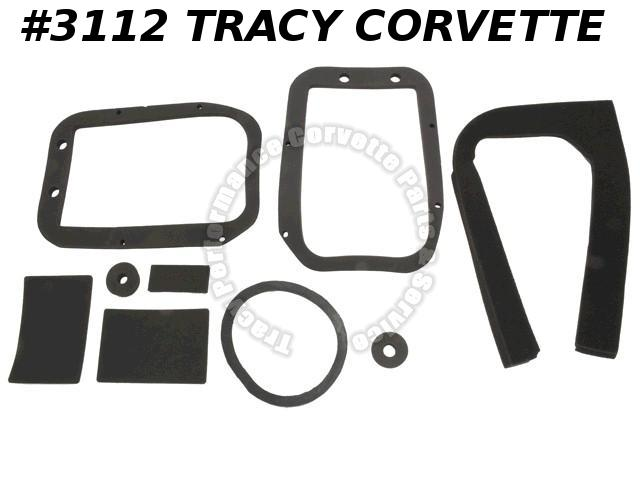 1963-67 Corvette Heater Box Gasket Kit / without A/C