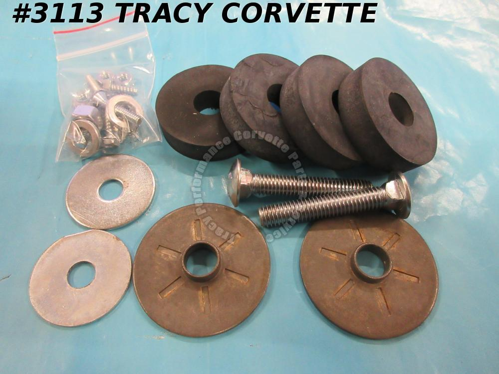1963-1969 Corvette Side Exhaust Hardware Kit  Rear Pipe Mount - GM Service Style