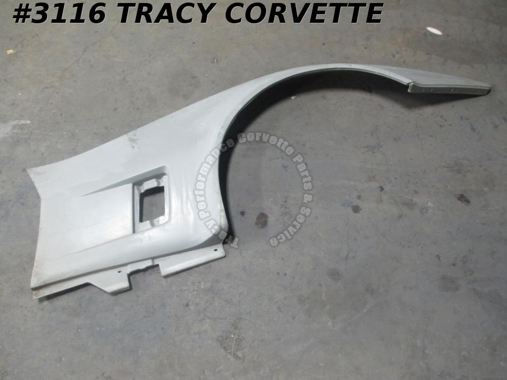 1980-1982 Corvette Fender Right Side Panel 14030139 Gray Original SMC Fiberglass