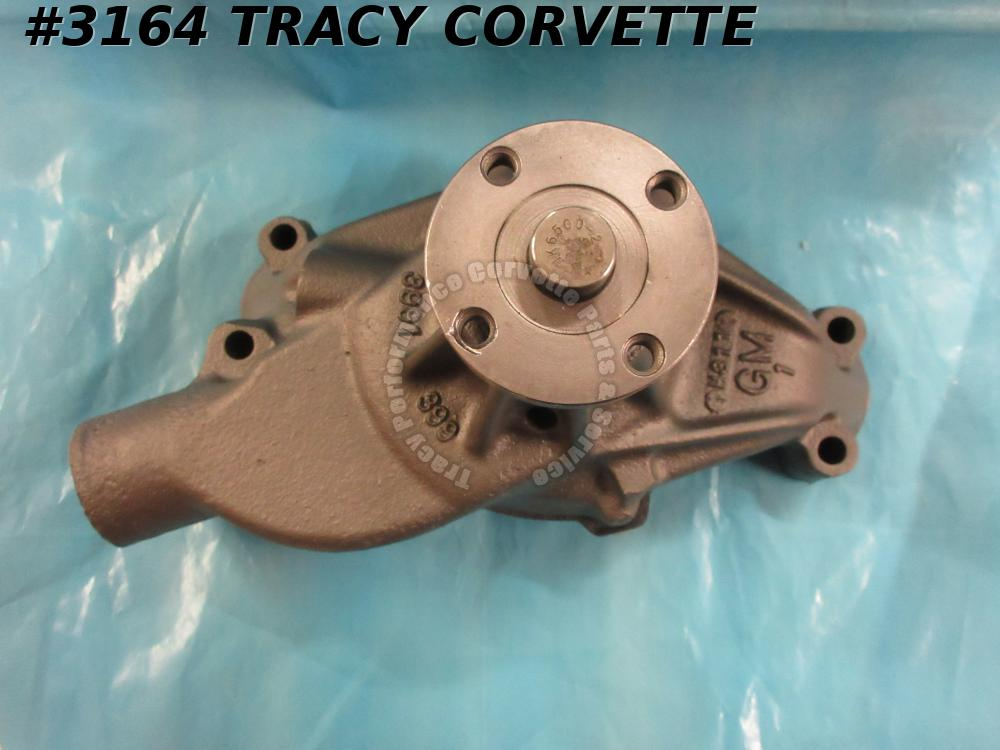 1971-1972 Corvette Chevy Short Water Pump SBC GM# 3991399 Early 72 Dated H 31 1
