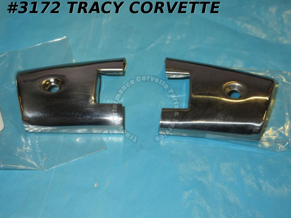 1958L-1959E Corvette New Repro 3757151 3757152 SS Door End Caps Moldings/Pr