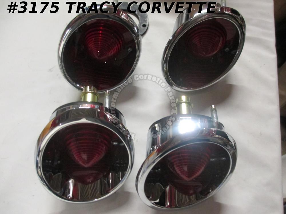 1963-1967 Corvette New Rear Lamp Light Assembly without B/U /Set Of 4