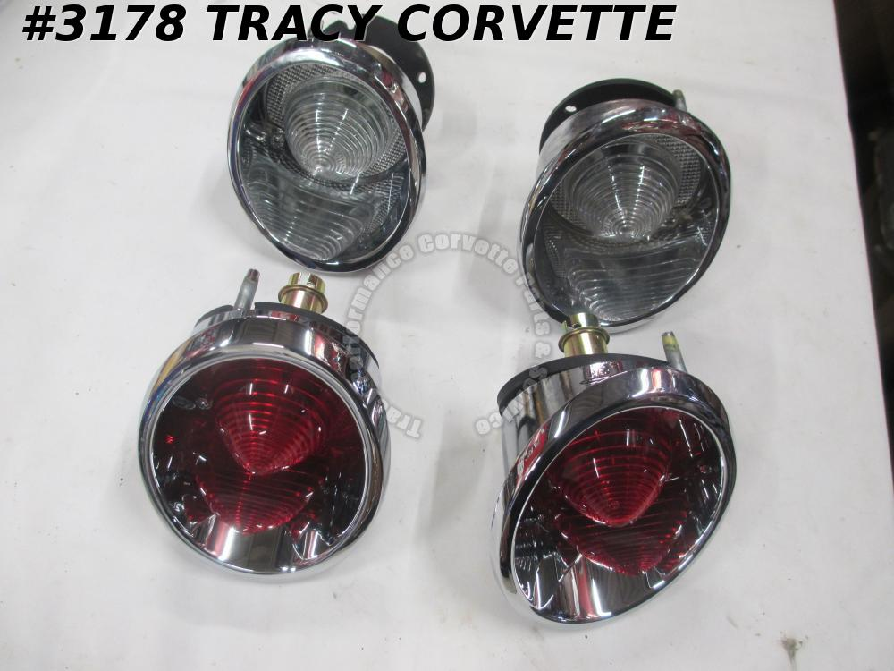 1963-1966 Corvette Tail Light and Back-Up Assemblies 910553 910554 910427 910428