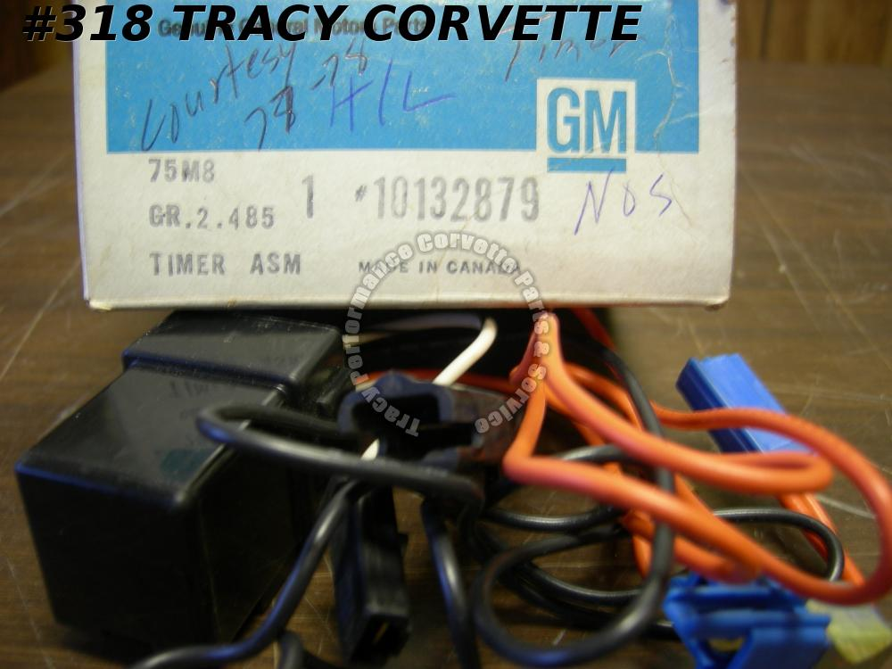 1977-78 Corvette NOS 10132879 Courtesy Dome Light Timer 77 1978 Delay Module Asm