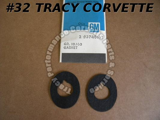 1958-1962 Corvette Wiper Gaskets  /Pair  NOS GM# 3746147  1959 1960 1961