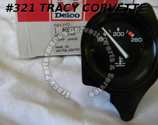 1978 Corvette NOS 8993063 Water Temperature Gauge Coolant H2O Temp. Dash Gage 78