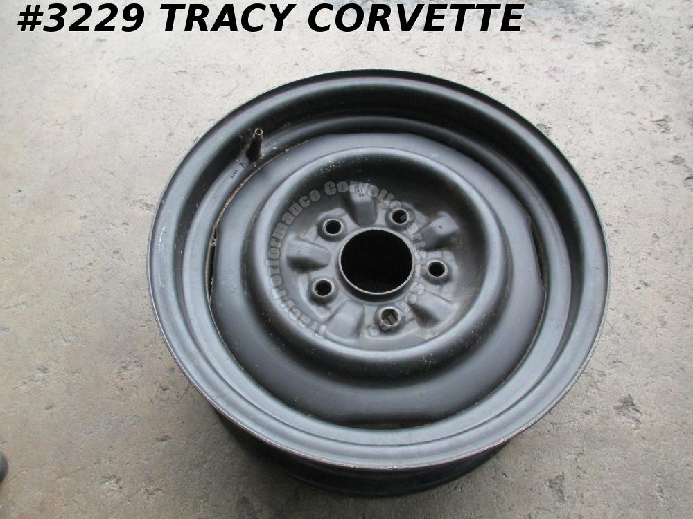 "1965-1966 Corvette Used 3869156 15"" x 5.5  Steel Disc Brake Wheel/Rim 65-66/1 LN"