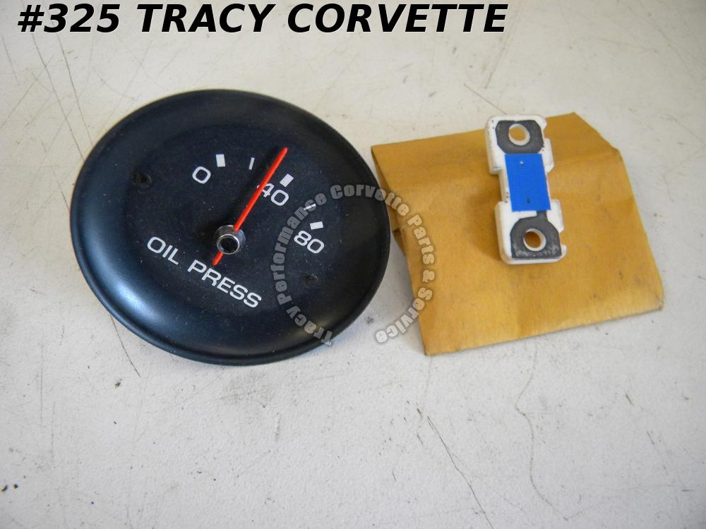 1977 Corvette Oil Pressure Gauge Dash Center Cluster Gage NOS 6464854