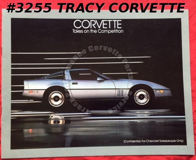 1984 Chevrolet Corvette Facts & Figures vs World Class Competition Brochure