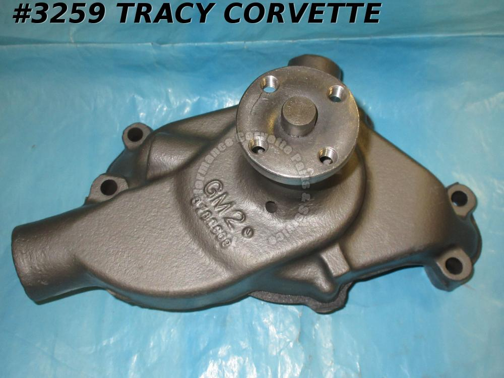 1961-62 Corvette Rebuilt  3782609 Small Block Water Pump 1/2 Inch Outlet UNDATED