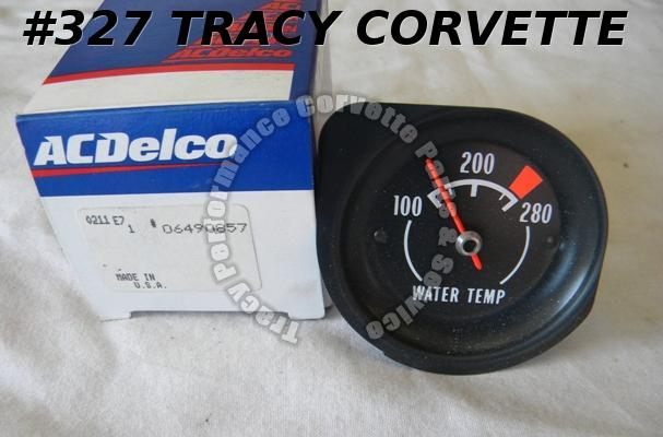 1972 73 74 Corvette NOS 6490857 Water Temperature Gauge H2O Temp Gage 1973 1974