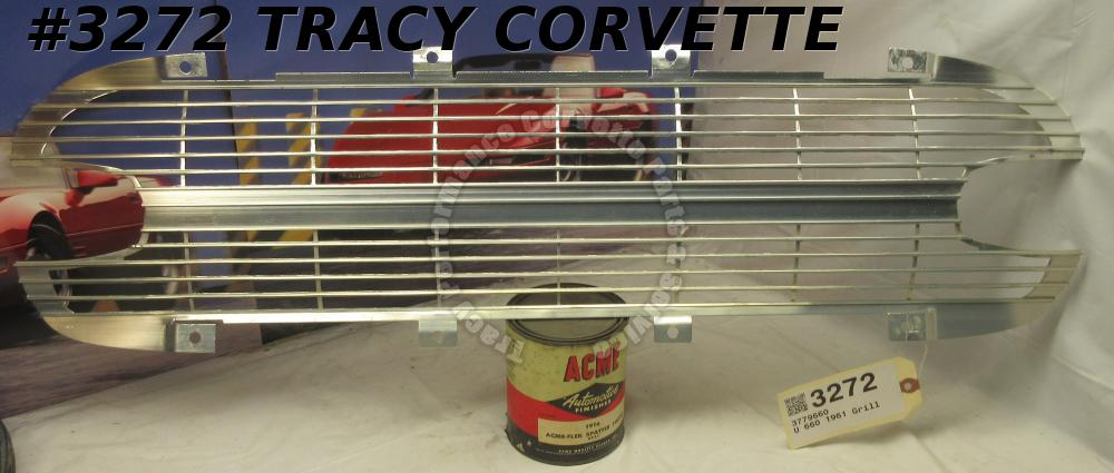 1961 Corvette Good Used 3779660 Front Grille Grill - Aluminum Driver Quality