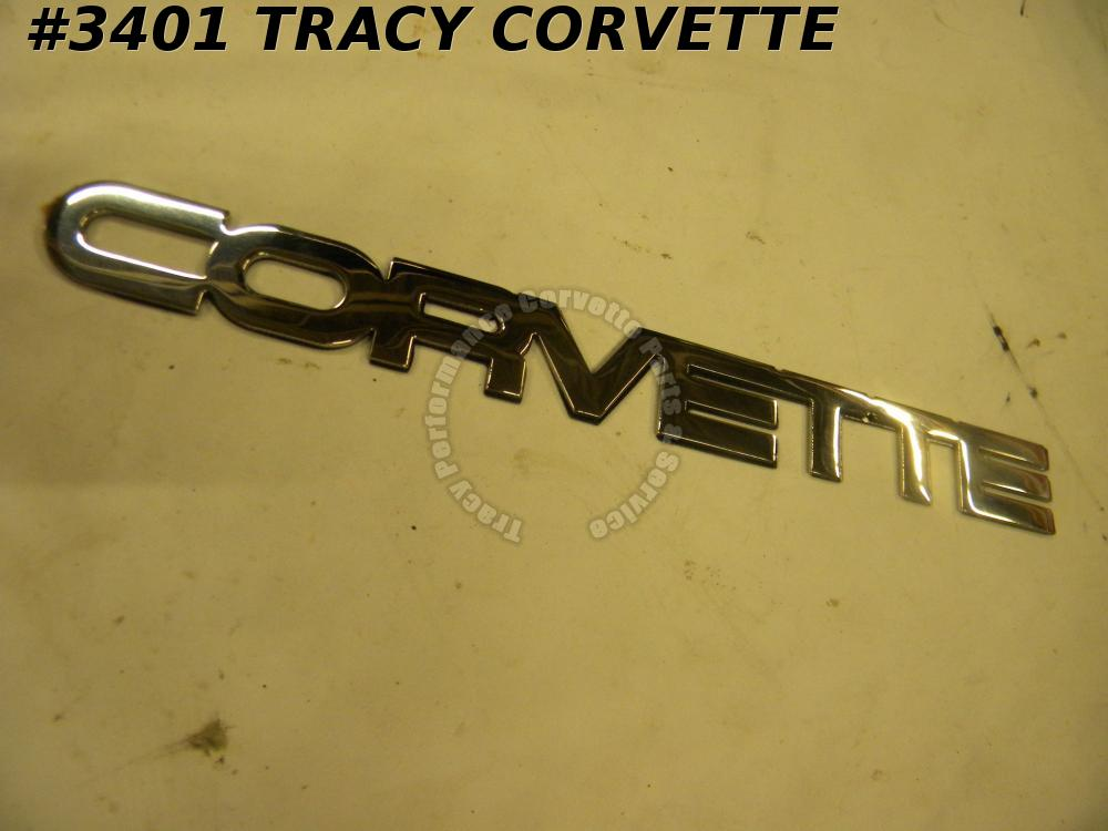 1984-1990 Corvette New Reproduction Stainless Steel Rear Bumper Emblem 84 85 90