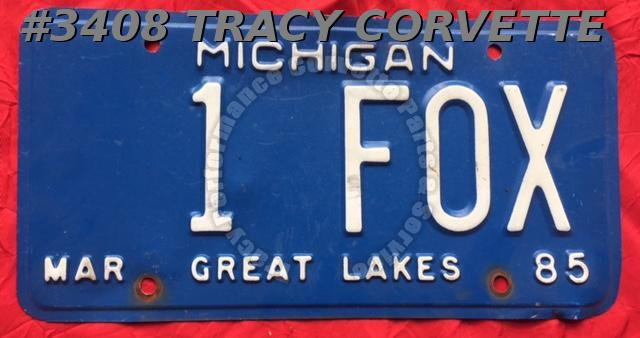 "1985 85 Michigan Used Original Vintage Metal License Plate 1 FOX 12"" x 6"""