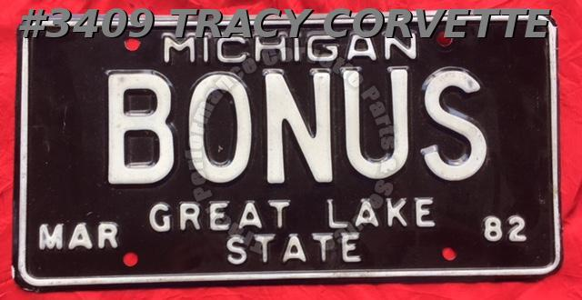 "1982 82 Michigan Used Original Vintage Metal License Plate BONUS 12"" x 6"""