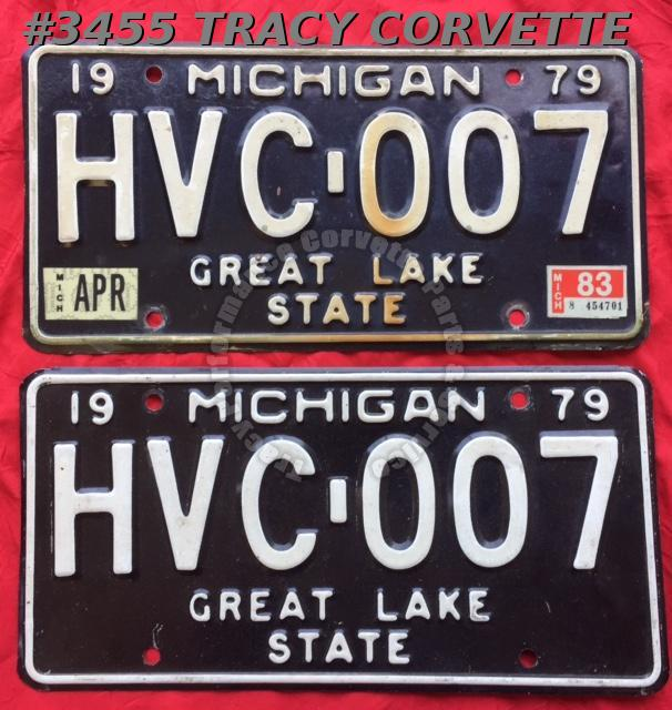 "1979 79 Michigan Used Original Vintage Metal License Plates Pr HVC-007 12"" x 6"""