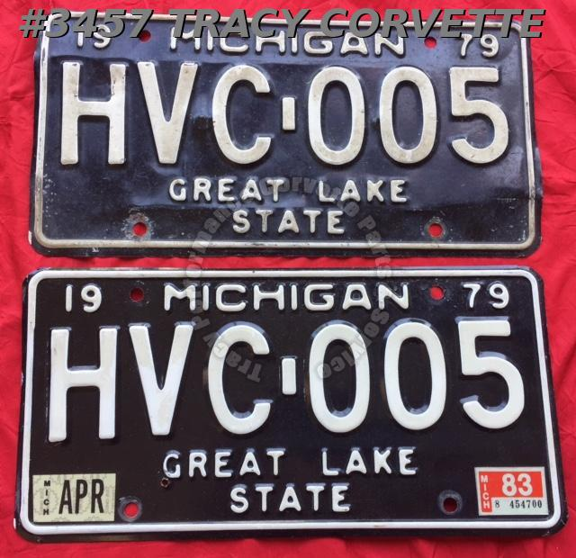 "1979 79 Michigan Used Original Vintage Metal License Plates Pr HVC-005 12"" x 6"""