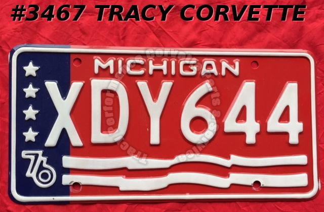 "1976 76 Michigan Used Original Vintage Metal License Plate XDY644 12"" x 6"""