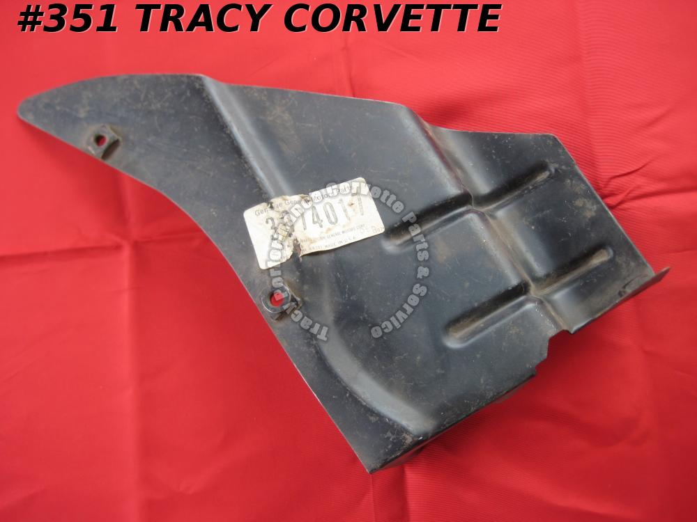 1970-1979 Corvette NOS 3974017 LH Splash Shield, Innr to Side Fender Brace 70-79