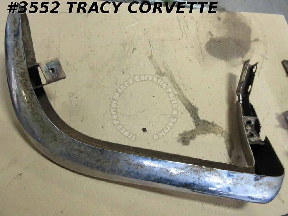 1963-1967 Corvette Used Survivor Original 3797338 Right Fr Bumper 63 64 65 66 67