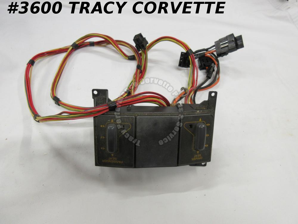 1990-91 Corvette Original 14104667 Power Seat Control Switch & Harness